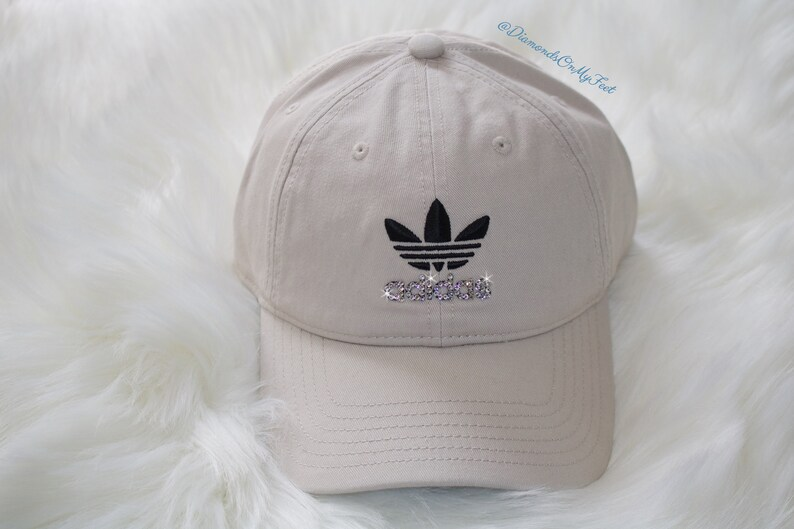 cd4e3a808a0 Swarovski Women s Bling Adidas Hat Precurved Strapback