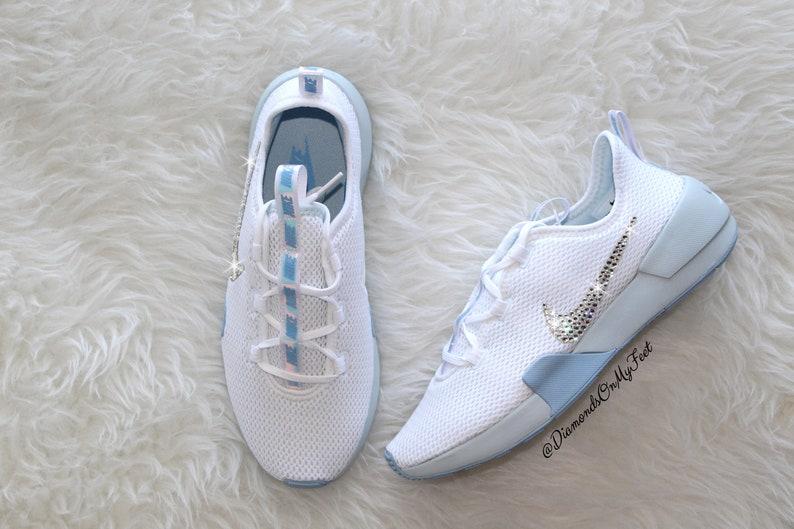 fb1a8342b211 Swarovski Women s Nike Ashin Modern Roshe White   Blue