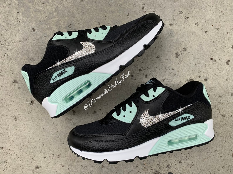 good selling detailed images cute nike air max 90 premium grey white mint for cheap