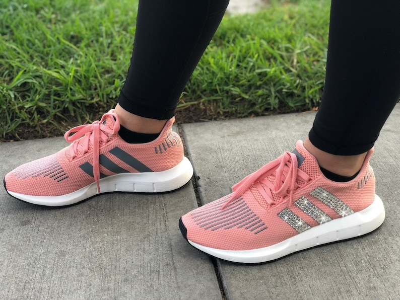 65dd5b635 Swarovski Women s Adidas Originals Swift Run Pink Sneakers