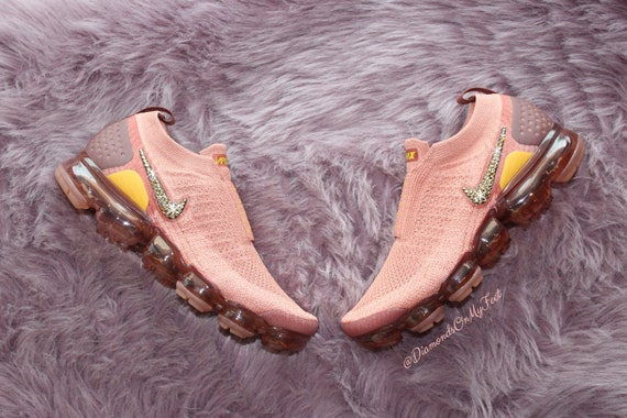 Nike Swarovski femmes Air Air Air Vapormax Flyknit Moc 2 baskets rouges Blinged Out avec des cristaux Swarovski clairs authentique Bling personnalisé Nike chaussures | Pas Cher  ad3d49
