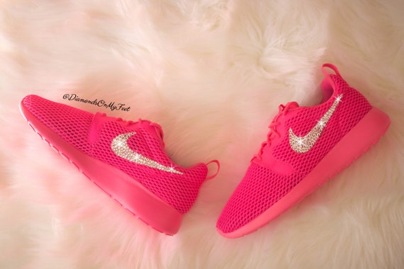 Nike Roshe Swarovski femmes courir Hyper respirer hors Blinged Etsy