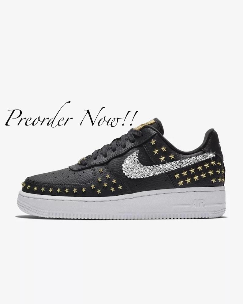 b6e96a4c3bdf Swarovski Women s Nike Air Force 1 XX Studded Black