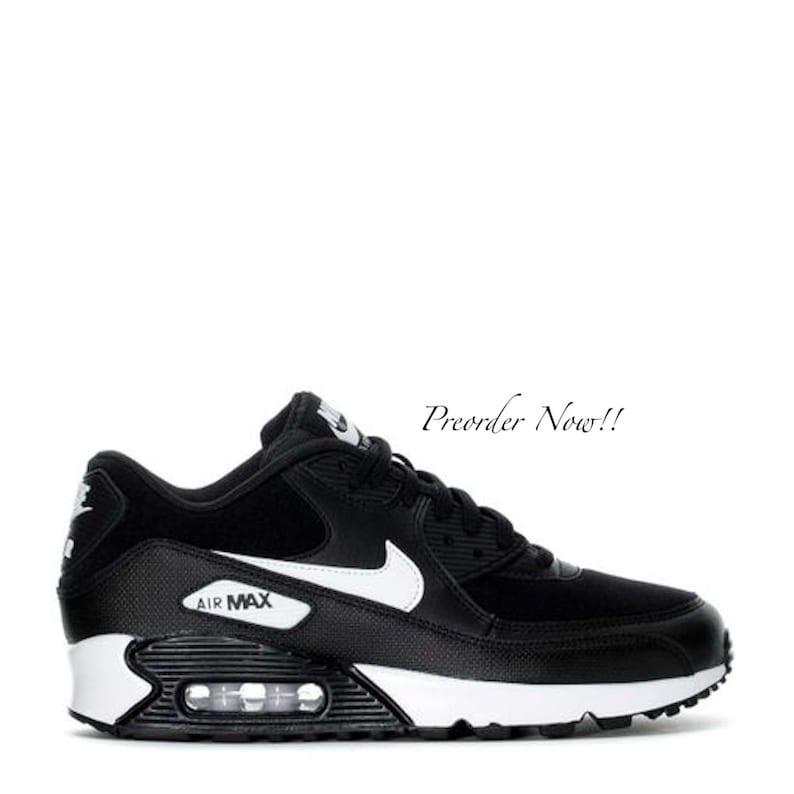 Swarovski Women s Nike Air Max 90 Black   White Sneakers  bcd01b397f