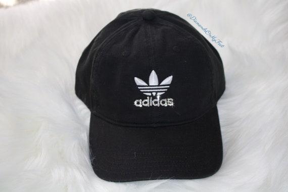 Swarovski Women s Bling Adidas Hat Precurved Strapback  f7387a808bef
