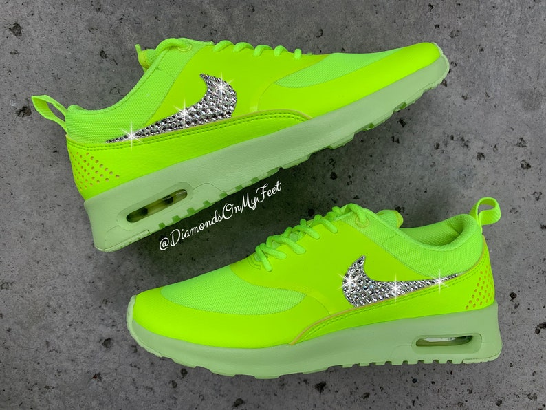 Nike Air Max Thea Turquoise Swarovski Crystals Boutique