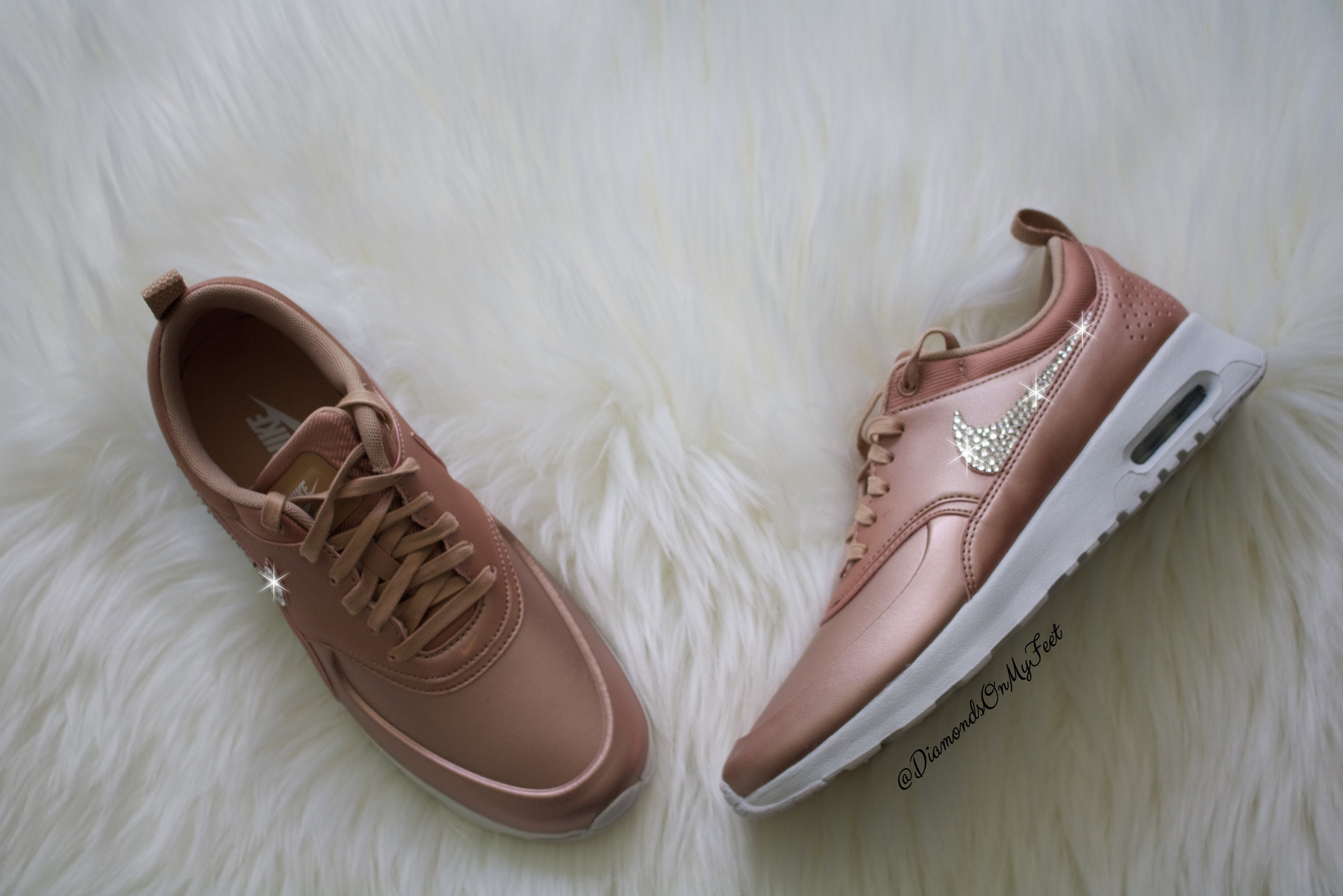 94f8d0c60ba Swarovski Women s Nike Air Max Thea Rose Gold   White