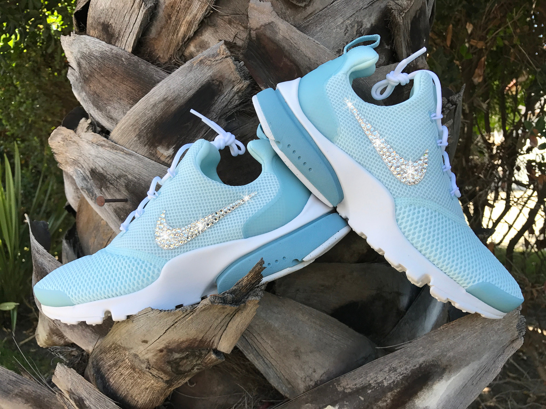 Size 7 Swarovski Women s Nike Presto Fly Glacier Blue  d4d143e9bc
