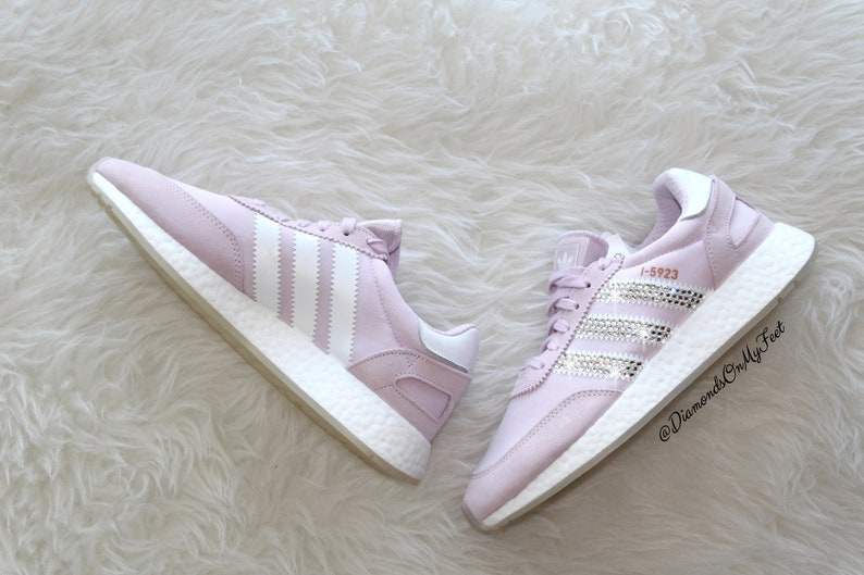 51d700a64 Swarovski Women's Adidas Iniki I-5923 Light Pink Sneakers | Etsy