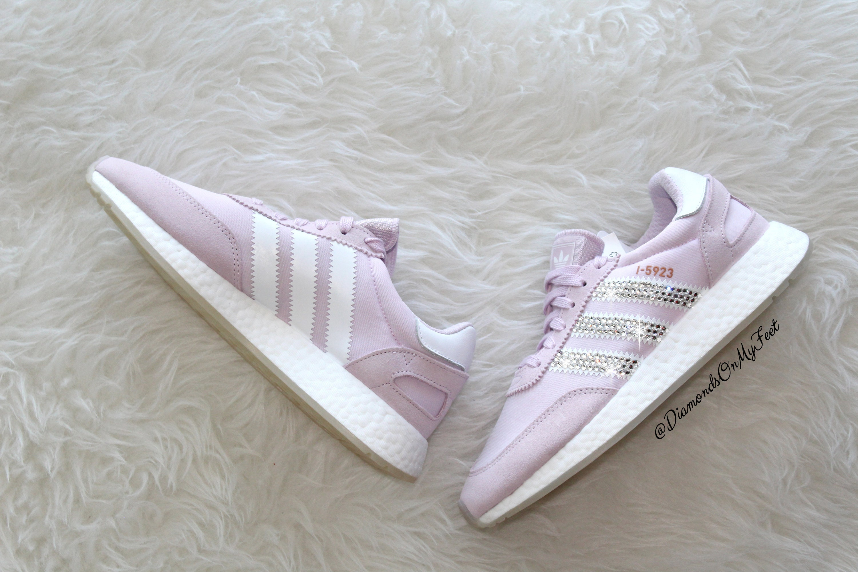 buy popular 86279 1905b Adidas Iniki I-5923 Sneakers rosa luce Blinged Out Swarovski   Etsy
