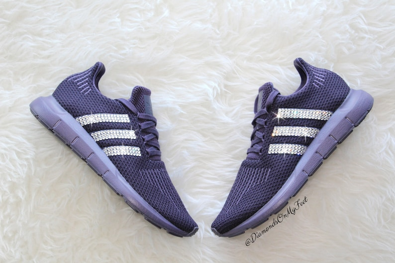a297ca18f Swarovski Women s Adidas Originals Swift Run Purple