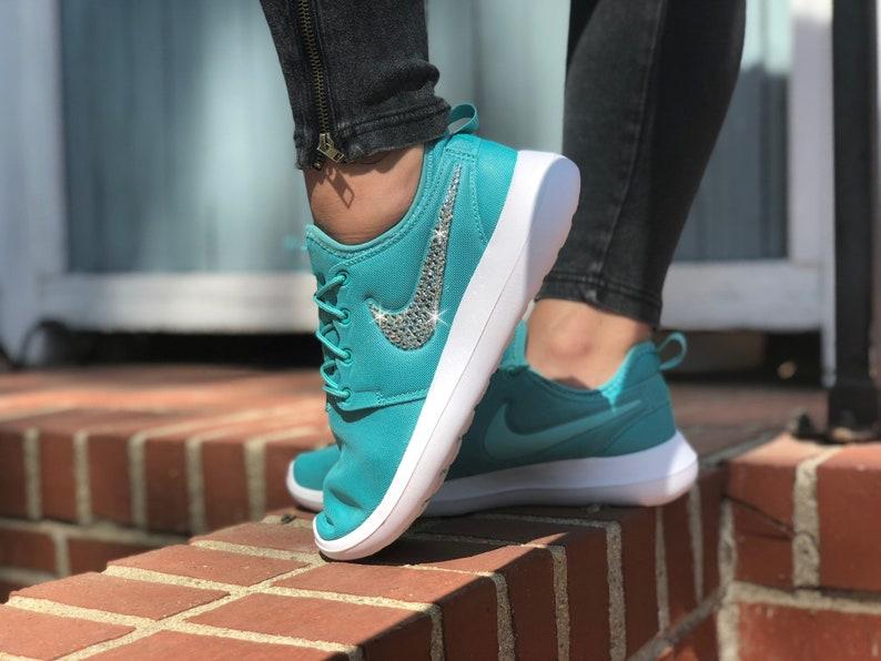 1548a64dff499 Swarovski Women s Nike Roshe Two Roshe Run Teal Green