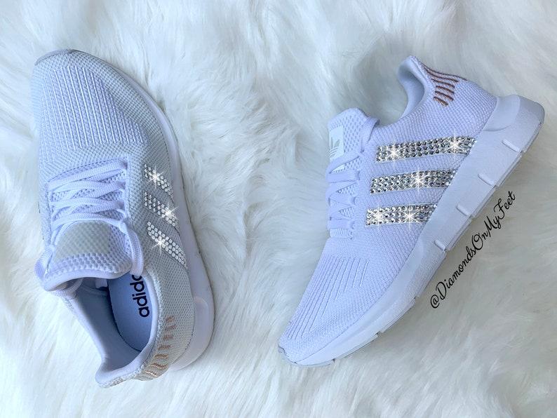 Adidas Originals Swift Swarovski donna eseguire Sneakers J7PYZ8nn