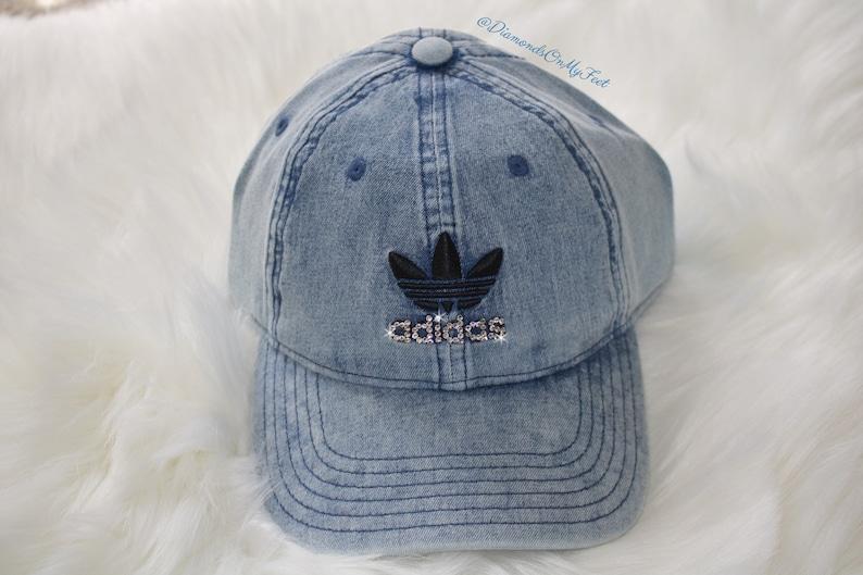3f9b33f691518 Swarovski Women s Bling Adidas Hat Precurved Strapback