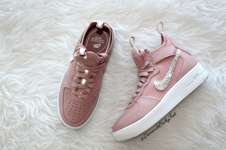 44ca6e71ba84c8 Swarovski Women s Nike Air Force 1 Ultraforce Pink