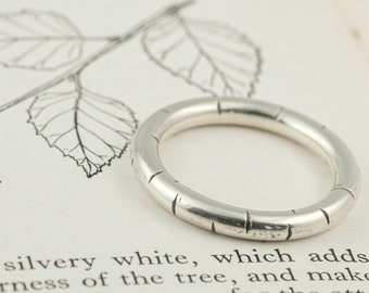 silver birch bark statement ring, his or hers chunky band ring