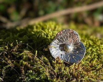 silver poppy flower pin, wildflower brooch