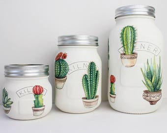 Cactus Plant Kilner / Mason Jar