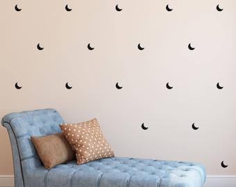 Moon Wall Decal - Crescent Kids Wall Sticker - Nursery Decor Pattern Shape | PP152