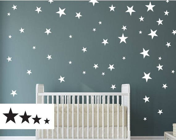 4 size star wall decal multisize wall sticker nursery | etsy