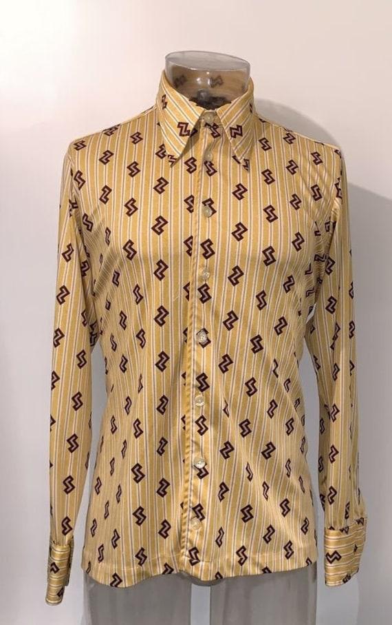Givenchy  log sleeve  Vintage  large size Mens shi