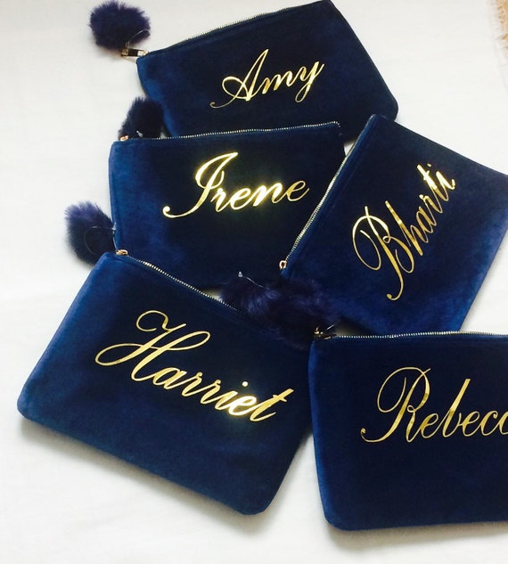Bridesmaid Gift Ideas Personalised Makeup Bags Unique Bridal