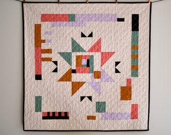 Geometric Modern Baby Quilt