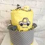 Cars diaper cake unique baby shower favor Baby shower decor Diaper cake for boy Unique gift Cars baby blanket Personalized baby gift