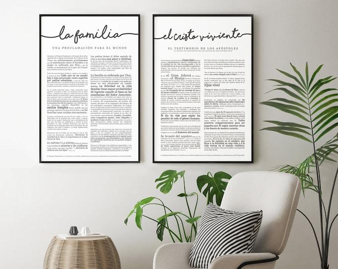 la Familia Proclamacion- Premium Print- Spanish Family Proclamation