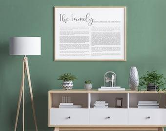Landscape Family Proclamation Print- Modern Emphasized- on Premium Paper