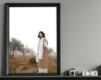 Come Follow Me- Modern Christian Decor, Vertical Color