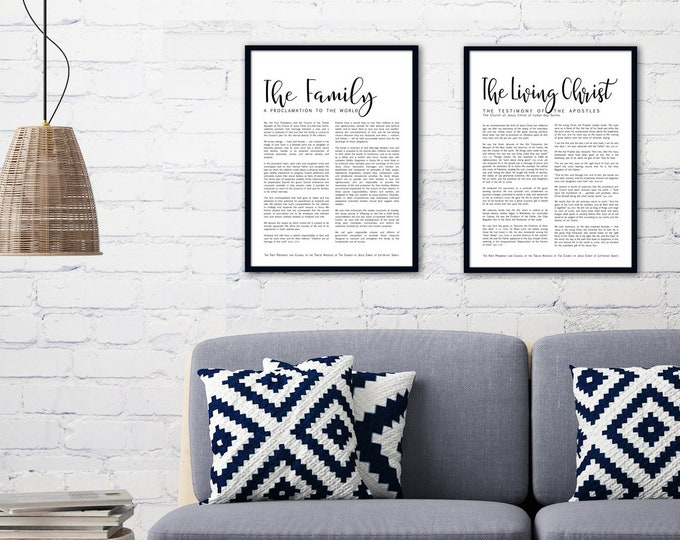 Family Proclamation Print- on Premium Paper- Simplistic Modern Uniform Text- LDS
