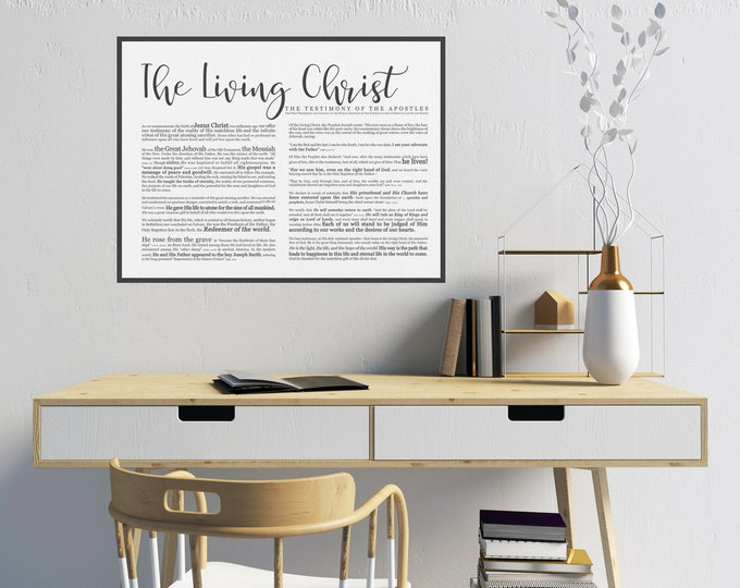Landscape Living Christ Print- Modern Emphasized- on Premium Paper- LDS