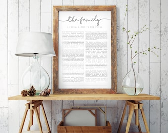 Family Proclamation Print- on Premium Paper- Cursive Title- LDS