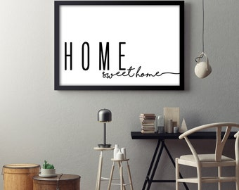 Home Sweet Home- Horizontal Print