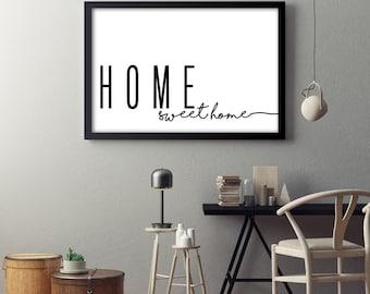 Home Sweet Home- Horizontal Print