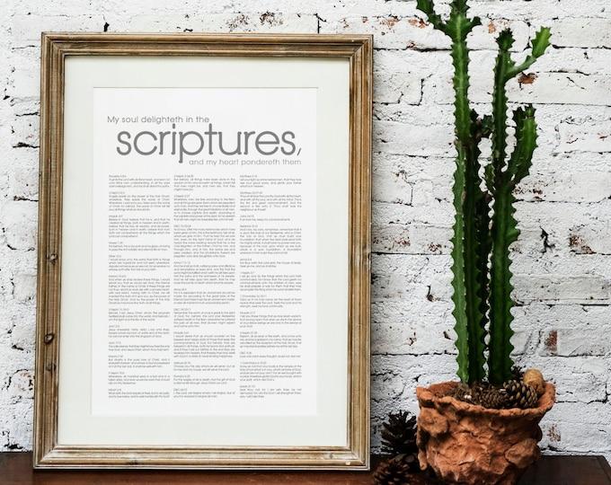 Scriptures to Memorize- Modern Print