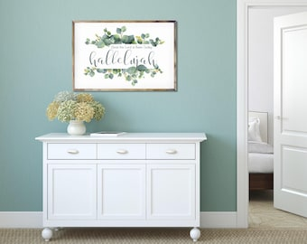 Hallelujah- Modern Eastern Christian Decor Print