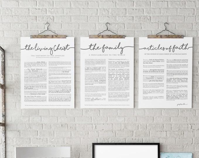 Articles of Faith Print- on Premium Paper- Cursive Title- LDS