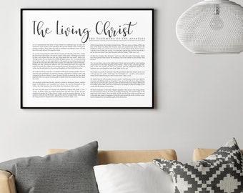 Landscape Living Christ Print- Simplistic Modern Uniform Text- on Premium Paper