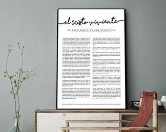 Spanish Living Christ Print- LDS- Espanol el Cristo viviente