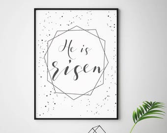 He is Risen- Modern Eastern Christian Decor Print