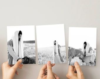 Christ Print Pack 5x7- Black and White- Pack of 4