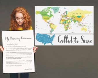 Missionary Called to Serve- LDS Mormon Missionary Map- Premium Print