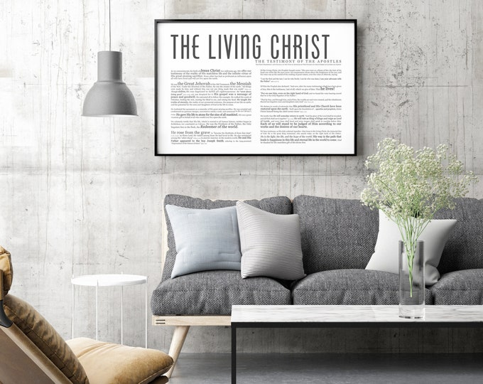 Horizontal Living Christ Print- Masculine Modern- Restored Church of Jesus Christ