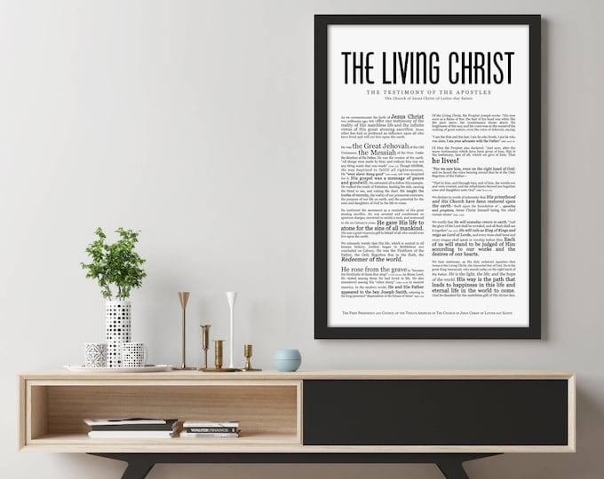 The Living Christ Print- Masculine Modern- LDS- Various Sizes