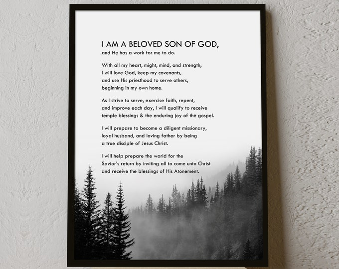 Young Men's Theme Print- LDS- Various Sizes - New YM Theme