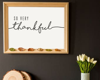 Thankful- Modern Thanksgiving Decor Print