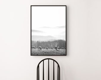 Jesus- Feed My Sheep, Gorgeous Modern Print- Vertical