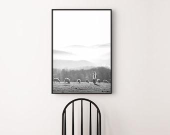 Jesus- Feed My Sheep, Gorgeous Modern Print- Vertical